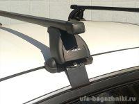 Багажник на крышу Nissan Almera 2012-..., Lux, прямоугольные стальные дуги