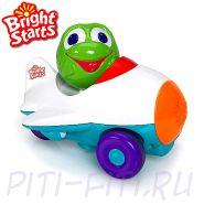 """Bright Starts. Развивающая игрушка """"Нажми, и поедет"""", Лягушонок"""