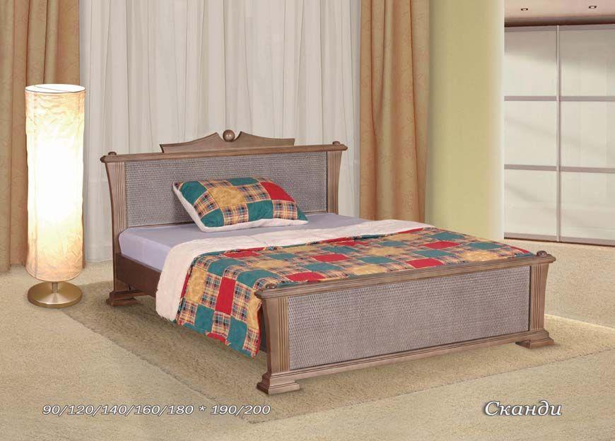 Кровать Сканди-2 (ротанг) | Альянс XXI век