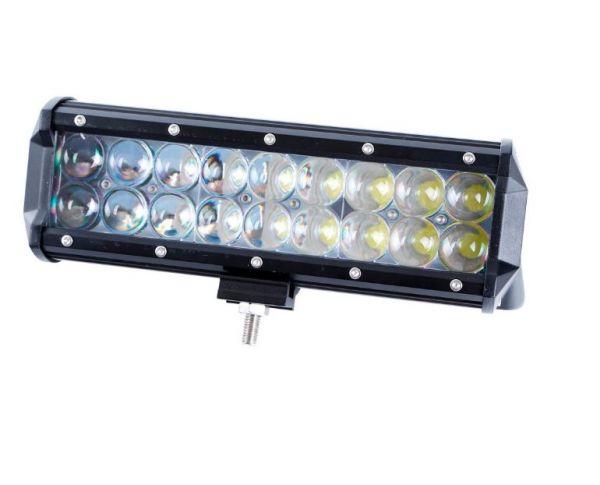 Двухрядная светодиодная LED фара с 4D линзой - 54W CREE дальний свет (нижний крепеж)