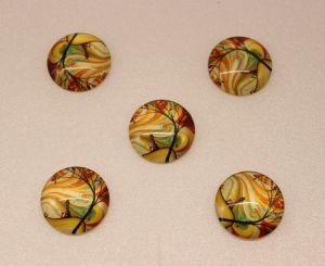 Кабошон, стекло, диаметр 25 мм (1уп = 10шт), Арт. КС0073