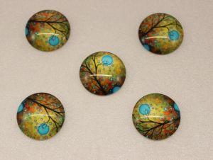 Кабошон, стекло, диаметр 25 мм (1уп = 10шт), Арт. КС0075