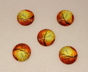 Кабошон, стекло, диаметр 25 мм (1уп = 10шт), Арт. КС0076