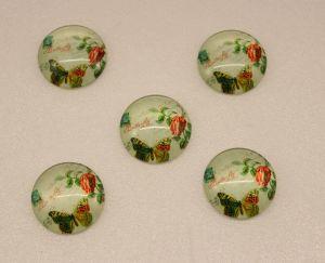 Кабошон, стекло, диаметр 25 мм (1уп = 10шт), Арт. КС0103