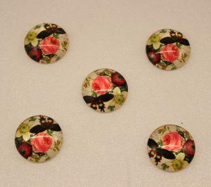 Кабошон, стекло, диаметр 25 мм (1уп = 10шт), Арт. КС0107