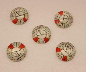 Кабошон, стекло, диаметр 25 мм (1уп = 10шт), Арт. КС0118