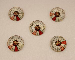 Кабошон, стекло, диаметр 25 мм (1уп = 10шт), Арт. КС0127