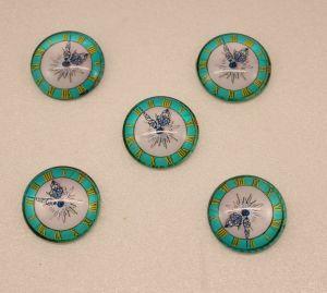 Кабошон, стекло, диаметр 25 мм (1уп = 10шт), Арт. КС0128