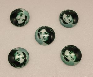 Кабошон, стекло, диаметр 25 мм (1уп = 10шт), Арт. КС0155