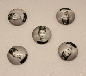 Кабошон, стекло, диаметр 25 мм (1уп = 10шт), Арт. КС0156