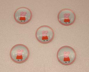 `Кабошон, стекло, диаметр 25 мм, Арт. Р-КС0070