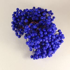 `Ягоды 8 мм (длина 16 см), цвет синий, 1 веточка=2 ягодки