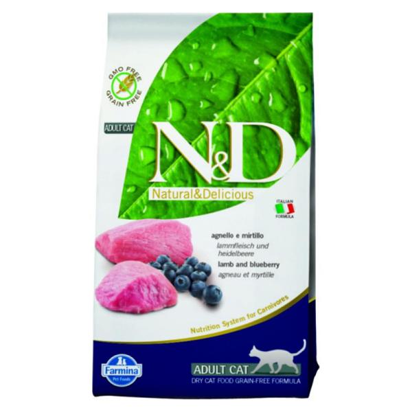 Корм сухой Farmina N&D для взрослых собак мелких пород с ягненком и черникой 2.5кг