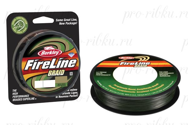 Плетеный шнур Berkley Fireline Braid 110m 0,40mm 58.1kg