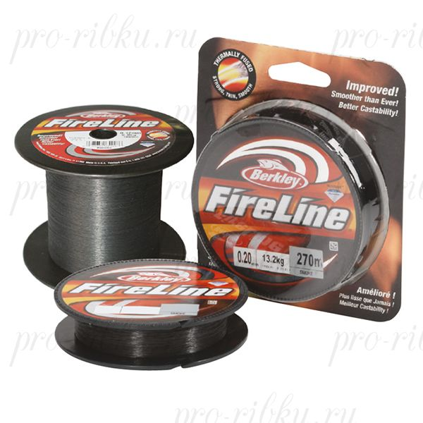 Плетеный шнур Berkley Fireline Smoke 270m 0,12mm 5.9kg