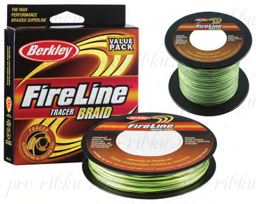 Плетеный шнур Berkley Fireline Tracer Braid 110m 0,23mm 25.7kg