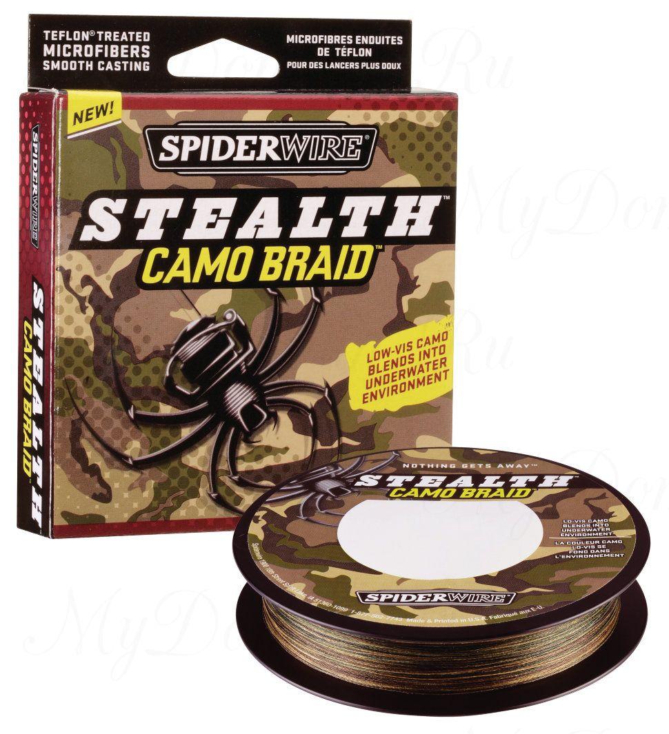 Плетеный шнур Spiderwire Stealth Camo 110m 0,40mm 51.2kg