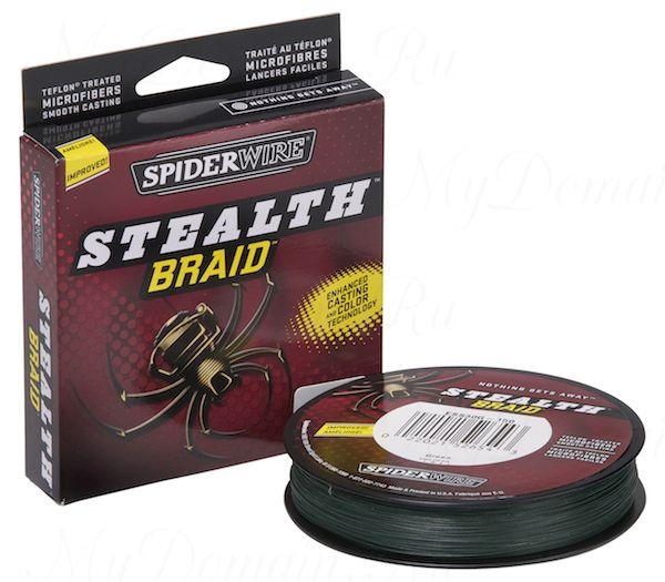 Плетеный шнур Spiderwire Stealth Green 137m 0,10mm 6.2kg