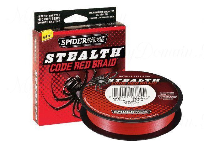 Плетеный шнур Spiderwire Stealth Red 270m 0,10mm 6.2kg