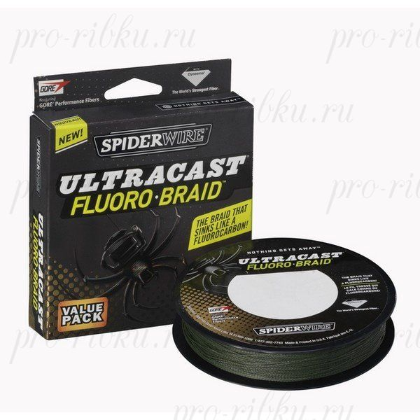 Плетеный шнур Spiderwire Ultracast Fluorobraid Green 270m 0,33mm 33,231kg
