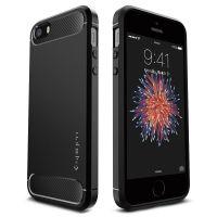 Чехол Spigen Rugget Armor для iPhone 5/5S/SE черный