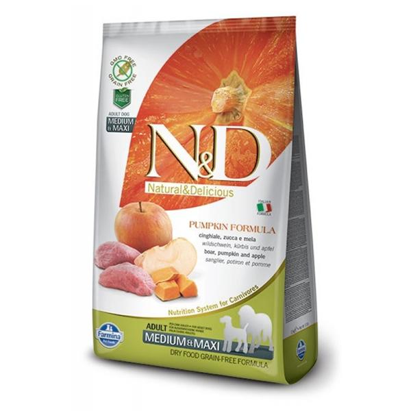 Корм сухой Farmina N&D для собак мелких пород с мясом кабана яблоком и тыквой 0.8кг