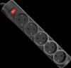 НОВИНКА. Сетевой фильтр RFS 30 3,0 м, черный, 5 розеток