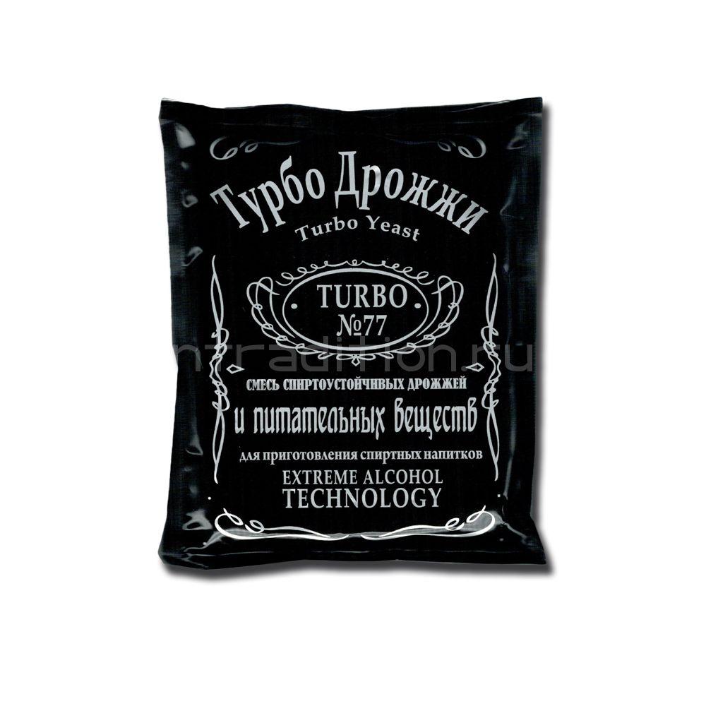 Спиртовые турбо-дрожжи Turbo Yeast 77 для самогона из любого сырья, 120 гр. (Сделано в EU)