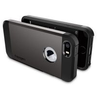 Чехол Spigen Tough Armor для iPhone 5/5s/SE темный металлик
