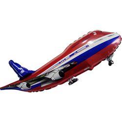 Шар (39''/99 см) Фигура, Самолет, Красный