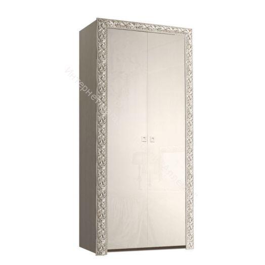 Пенал двух дверный Тиффани Премиум серебро