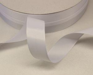 Лента репсовая однотонная 25 мм, длина 25 ярдов, цвет: белый
