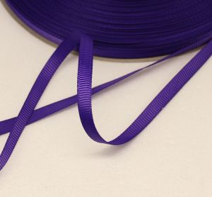 Лента репсовая однотонная 06 мм, длина 25 ярдов, цвет: фиолетовый