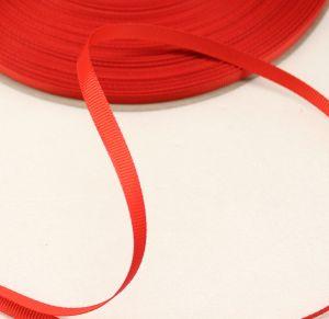 Лента репсовая однотонная 06 мм, длина 25 ярдов, цвет: красный