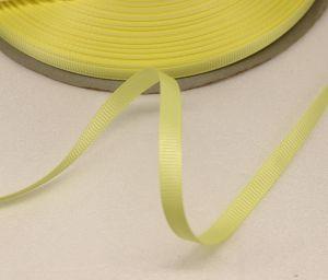 Лента репсовая однотонная 06 мм, длина 25 ярдов, цвет: светло-желтый
