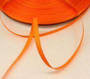 Лента репсовая однотонная 06 мм, длина 25 ярдов, цвет: оранжевый