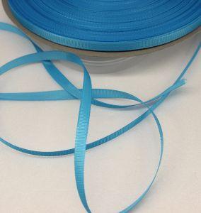 Лента репсовая однотонная 06 мм, длина 25 ярдов, цвет: голубой