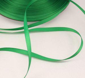 Лента репсовая однотонная 06 мм, длина 25 ярдов, цвет: зеленый