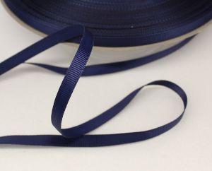 Лента репсовая однотонная 06 мм, длина 25 ярдов, цвет: темно-синий