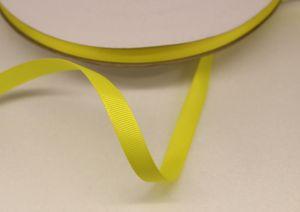 Лента репсовая однотонная 09 мм, длина 25 ярдов, цвет: желтый