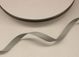 Лента репсовая однотонная 09 мм, длина 25 ярдов, цвет: серый