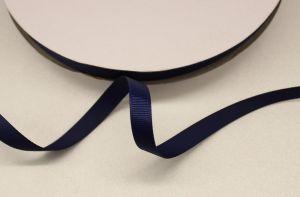 Лента репсовая однотонная 09 мм, длина 25 ярдов, цвет: темно-синий