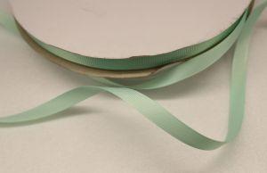 Лента репсовая однотонная 09 мм, длина 25 ярдов, цвет: светло-зеленый