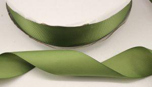 Лента репсовая однотонная 38 мм, длина 25 ярдов, цвет: хаки