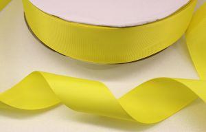 Лента репсовая однотонная 38 мм, длина 25 ярдов, цвет: желтый