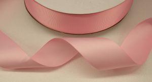 Лента репсовая однотонная 38 мм, длина 25 ярдов, цвет: светло-розовый