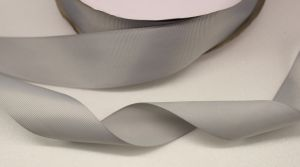 Лента репсовая однотонная 38 мм, длина 25 ярдов, цвет: серый