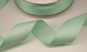 Лента репсовая однотонная 38 мм, длина 25 ярдов, цвет: светло-зеленый