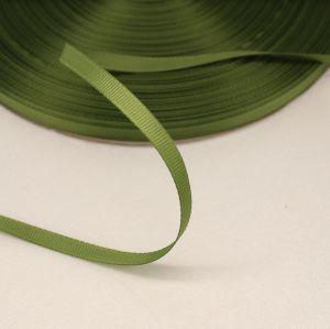`Лента репсовая однотонная 06 мм, цвет: хаки