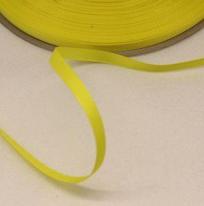 `Лента репсовая однотонная 06 мм, цвет: желтый